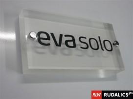 Raumbeschriftung auf Acrylglas - abstehend montiert