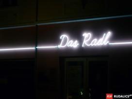 freiliegende Neonanlage